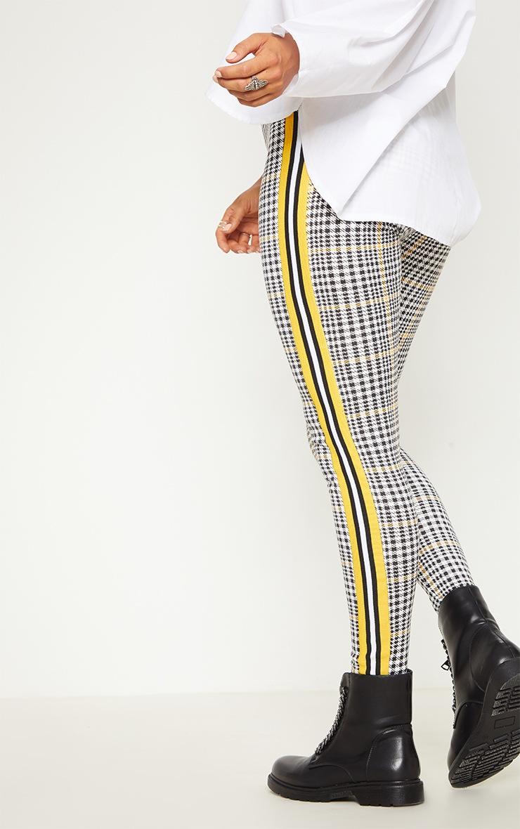 Mustard Check Sport Stripe Legging 3
