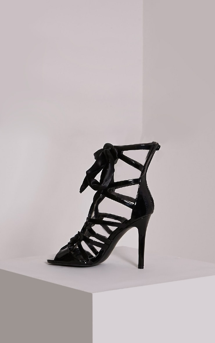 Carrey Black Ribbon Lace Sandals 3