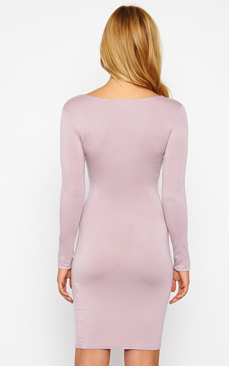 Kayla Mauve Wrap Jersey Dress 2