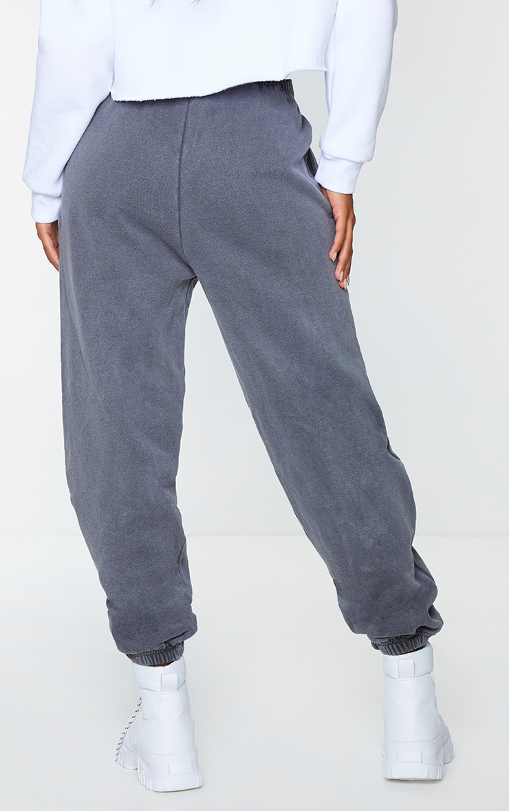 Grey Washed Effect Casual Joggers 3