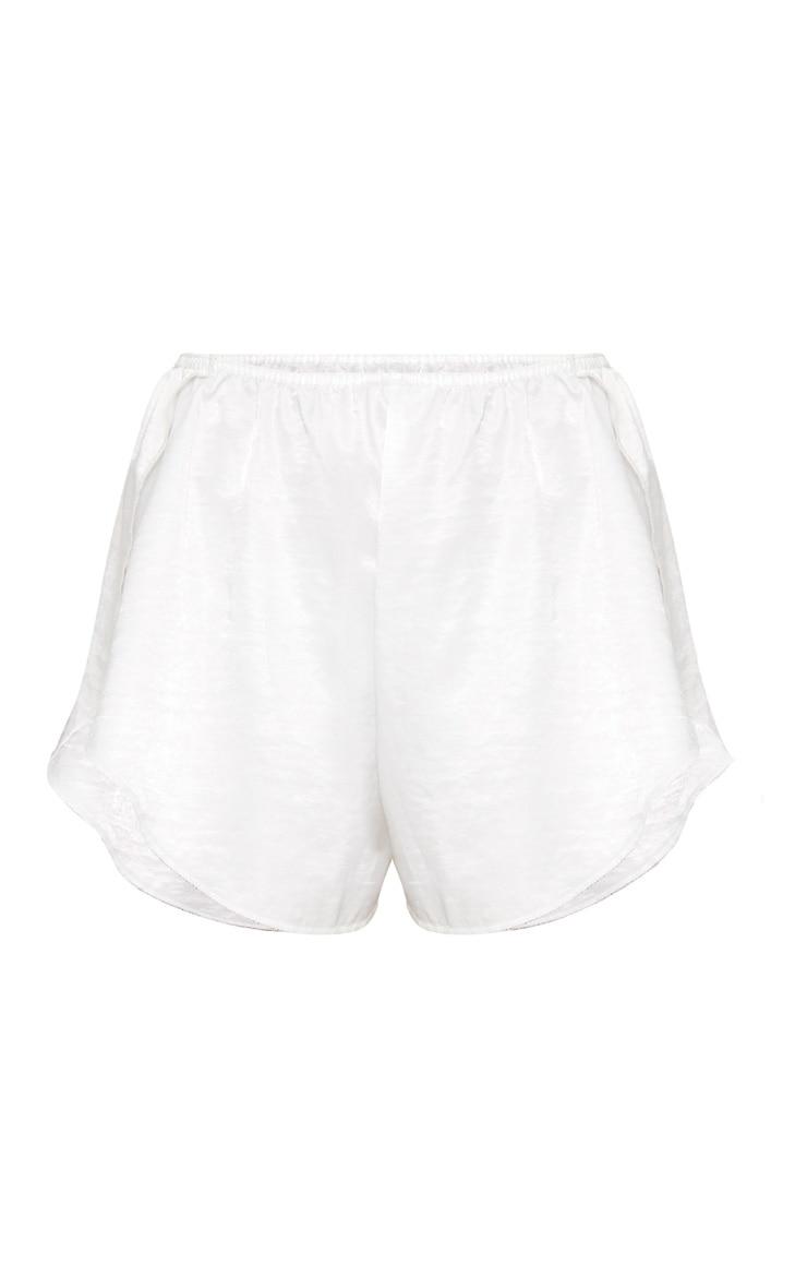 White Satin Frill Hot Pants 3