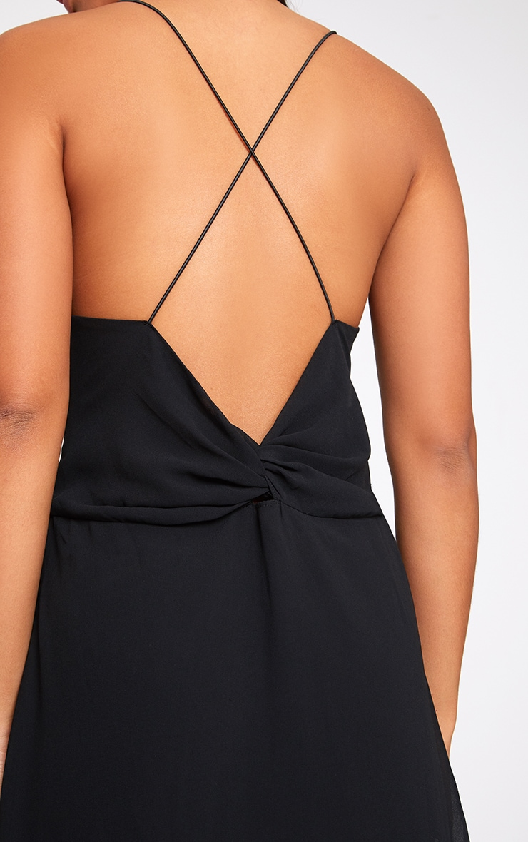 Black Knot Back Maxi Dress 5