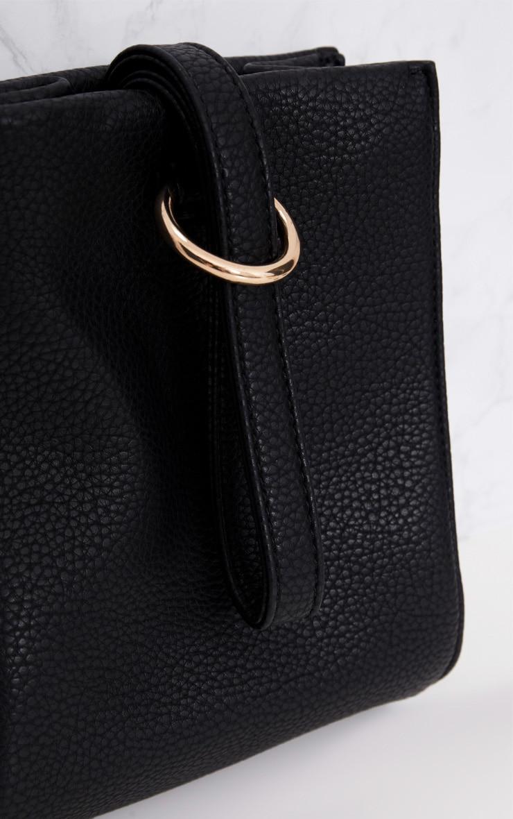 Black Loop Handle With Gold Ring Detail Bag 5