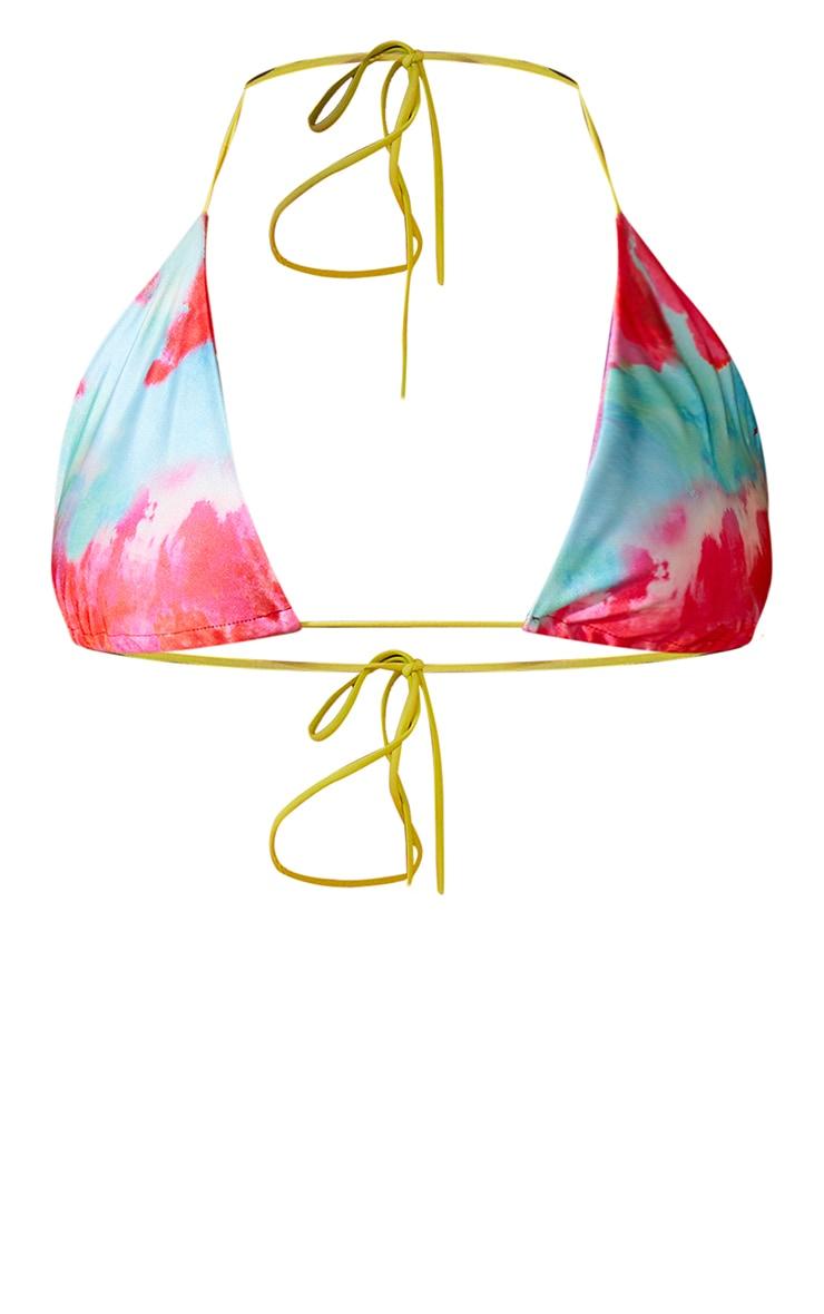 Plus Multi Printed Triangle Bikini Top 5