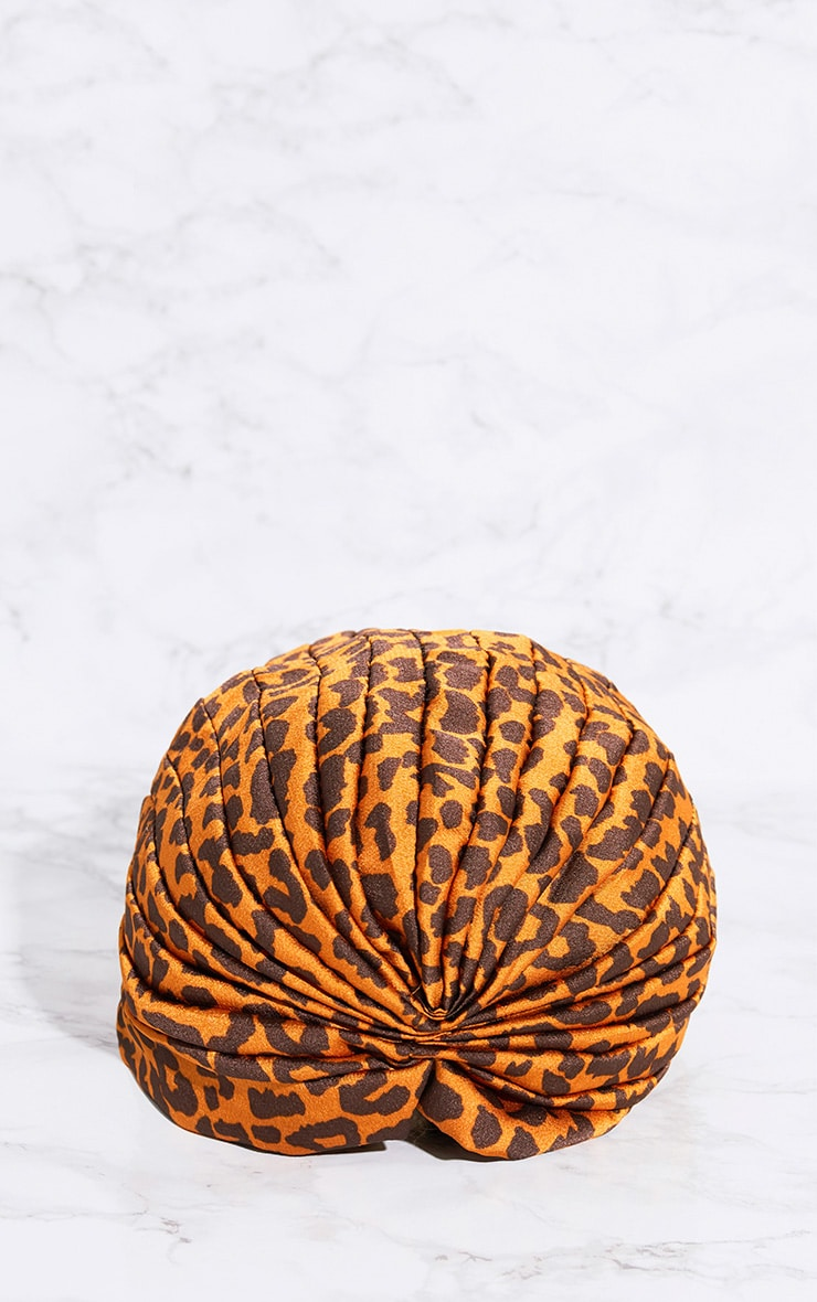 Leopard Print Knotted Turban 4