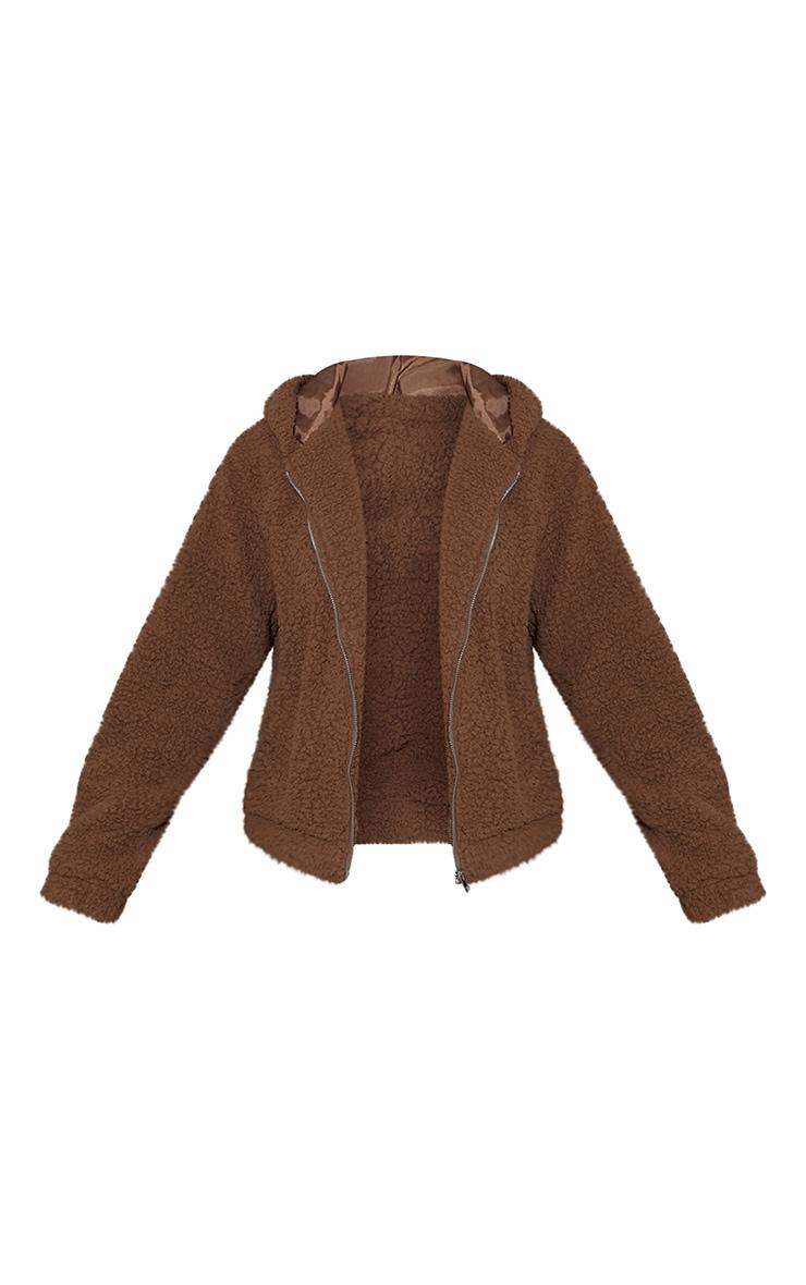 Chocolate Teddy Hooded Zip Up Jacket 5
