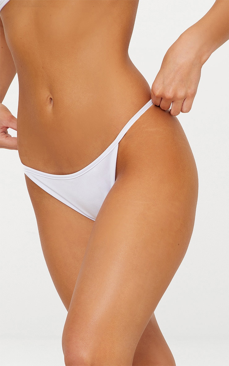 White Mix & Match Itsy Bitsy Bikini Bottom 5