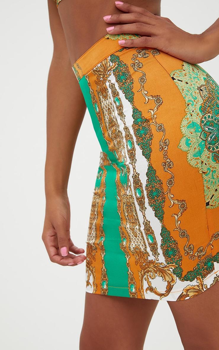 Petite Orange Scarf Print  Skirt Co-ord 6