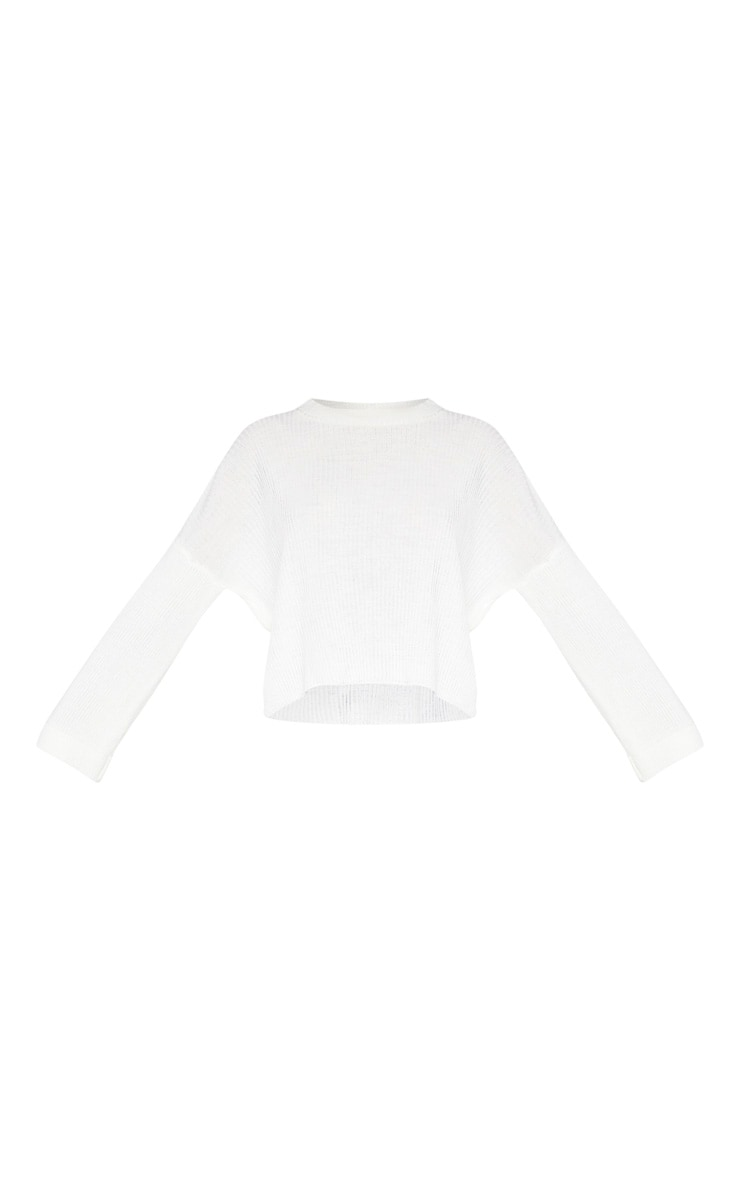 Cream Rib Knit Sweater 3