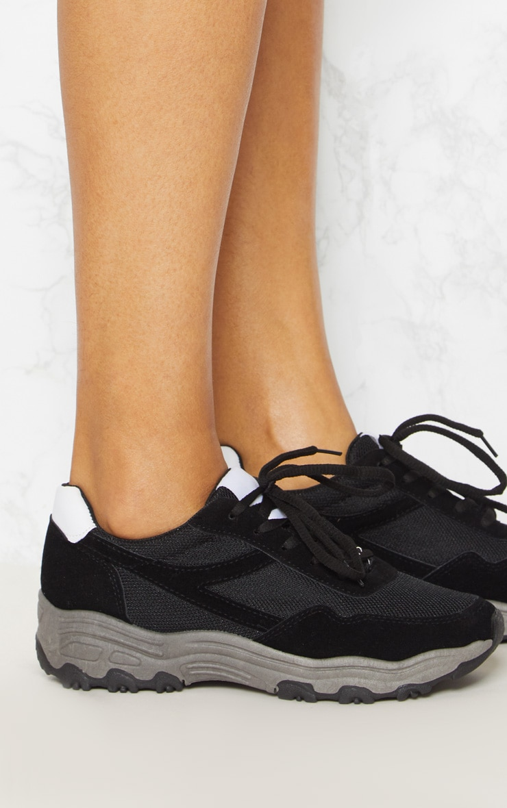 Black Chunky Contrast Trainers 4