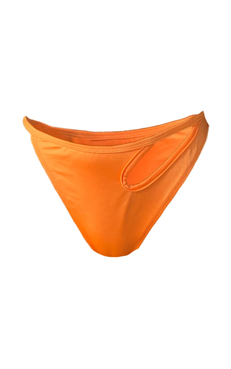 Orange Cut Out Bikini Bottoms 6