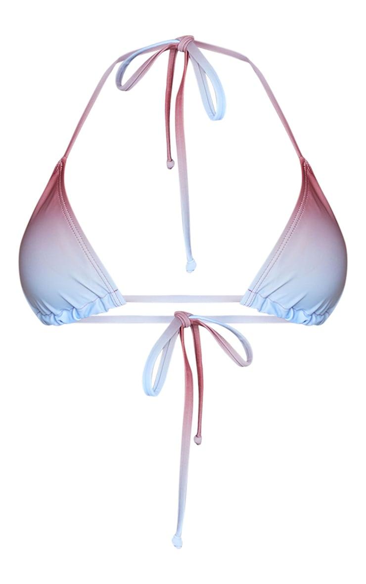 Brown Ombre Print Padded Bikini Top 5