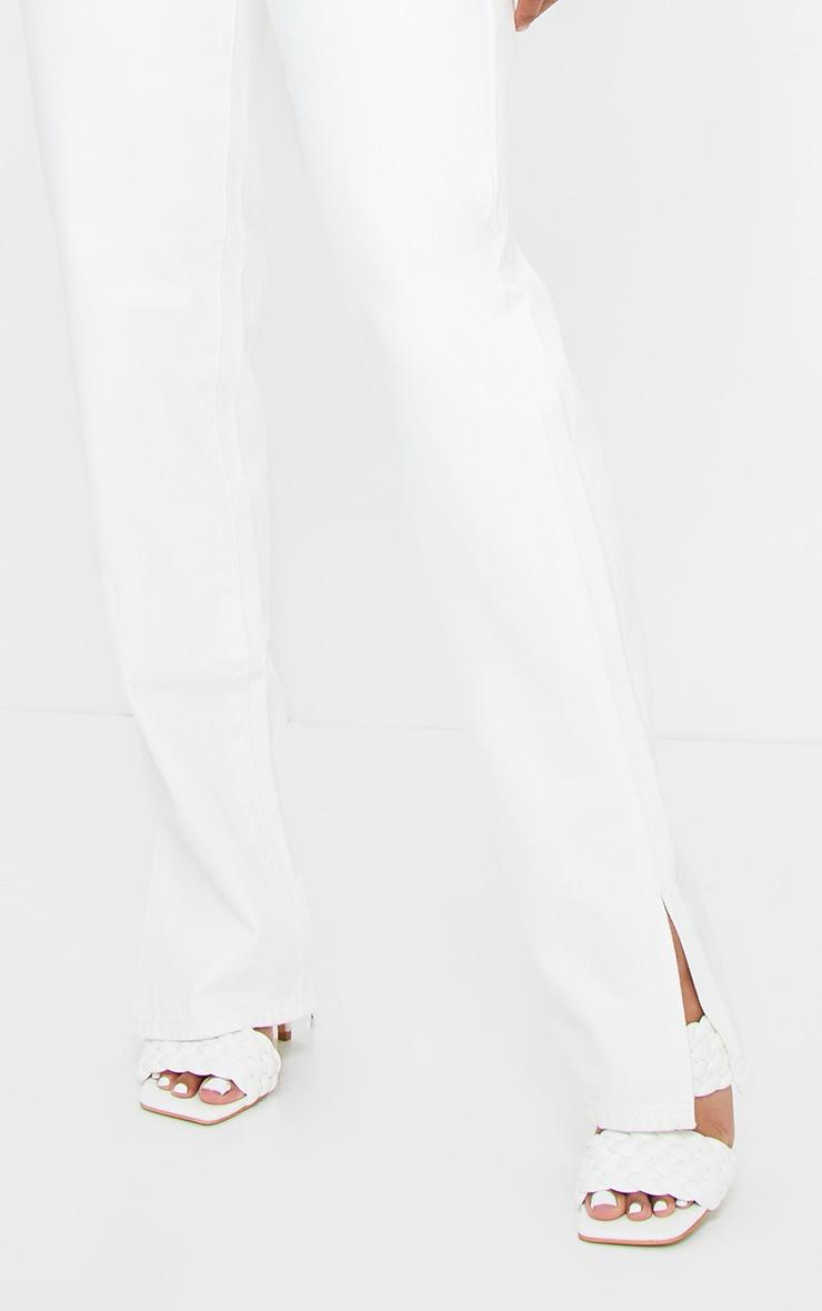 Off White Split Hem Jeans 4