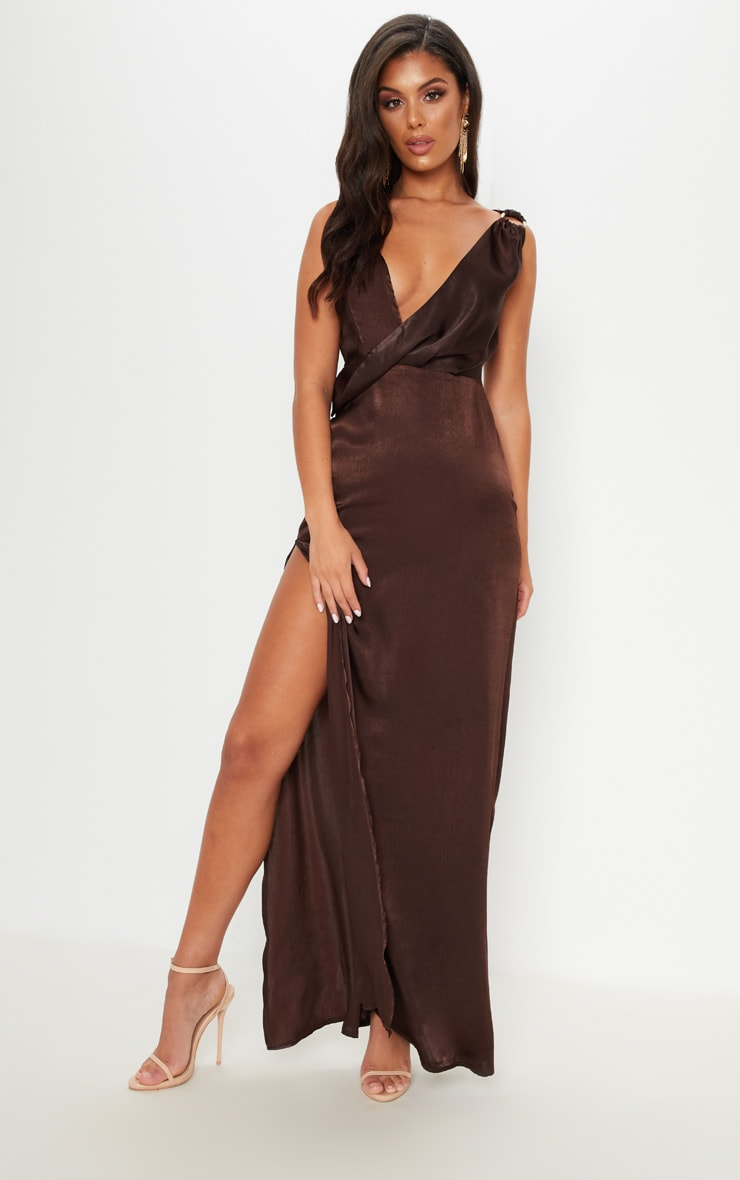 985e976c17 chocolate-brown-satin-asymmetric-ring-detail-maxi-dress by