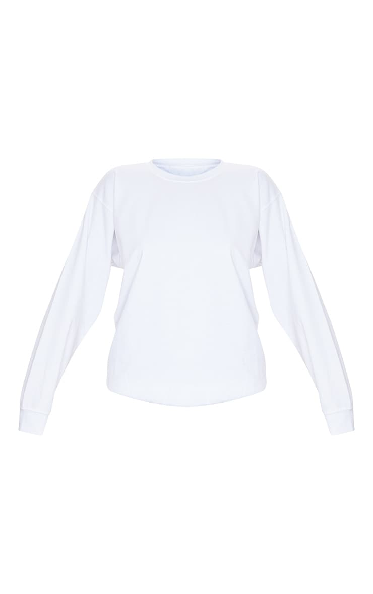 White Ultimate Oversized Sweatshirt 5