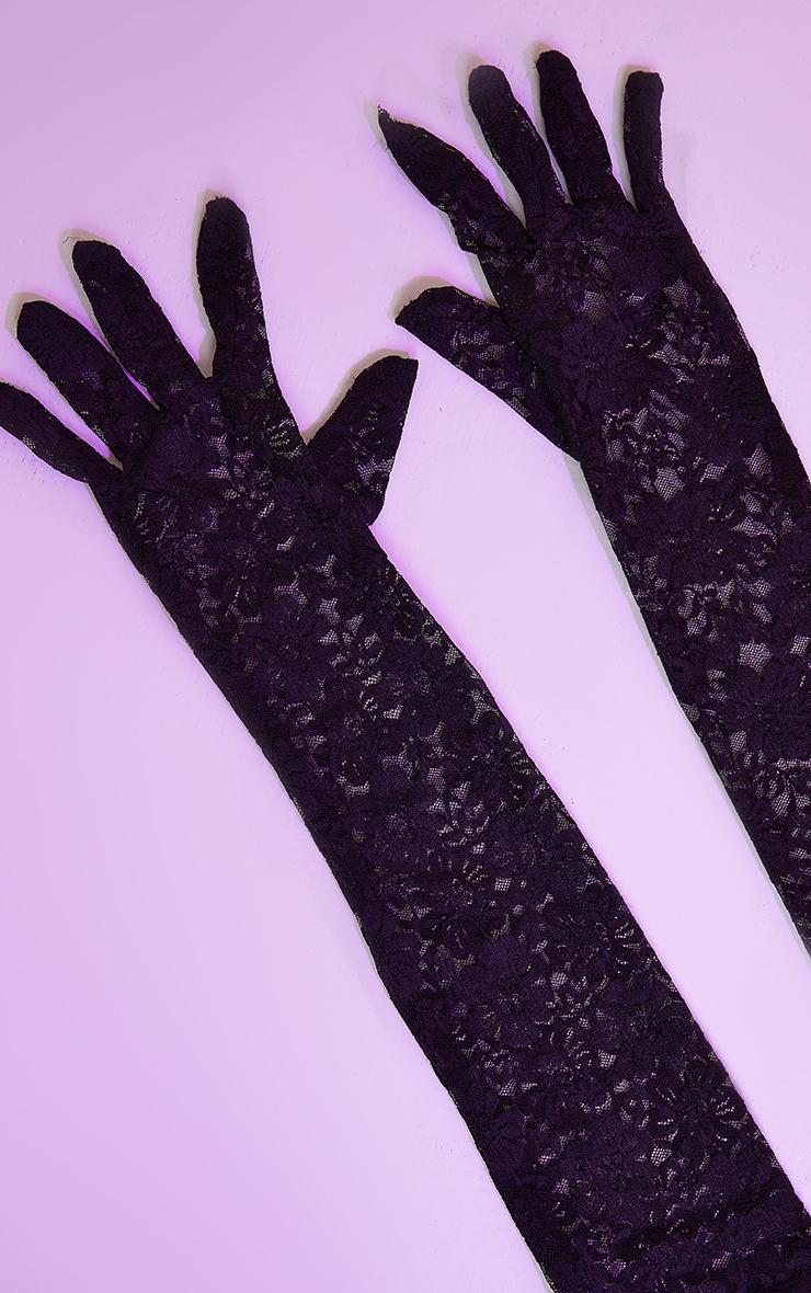 Black Long Lace Gloves 3