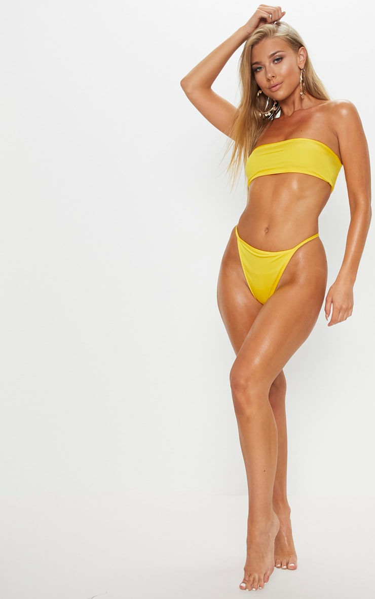 Yellow Mix & Match String Thong Bikini Bottom 4