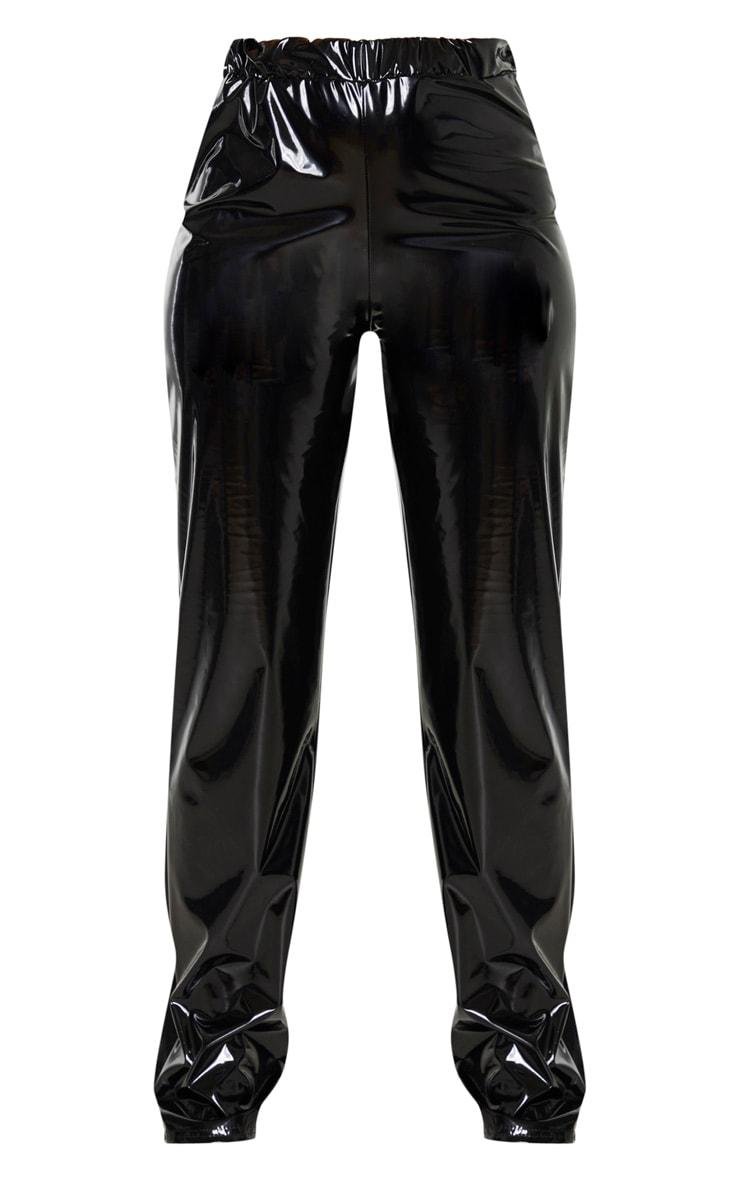 BlackVinyl Straight Leg Trousers 3