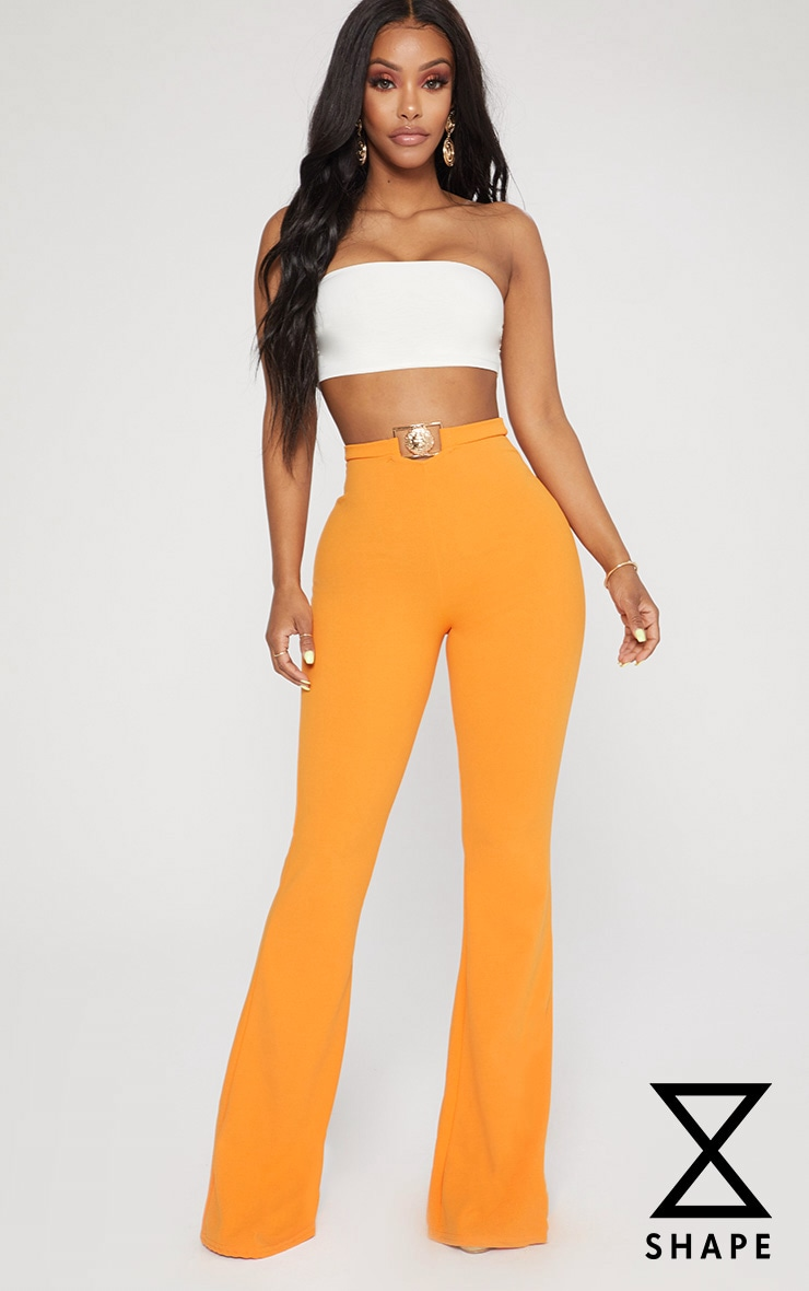 Shape Tangerine Lion Trim Wide Leg Trousers