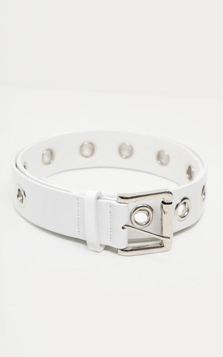 White Eyelet Belt 3