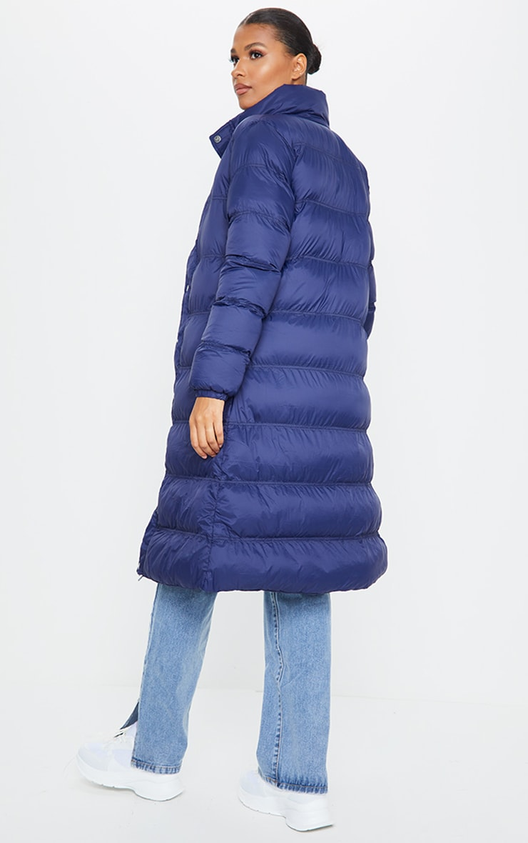 Navy Maxi Fitted Puffer 2
