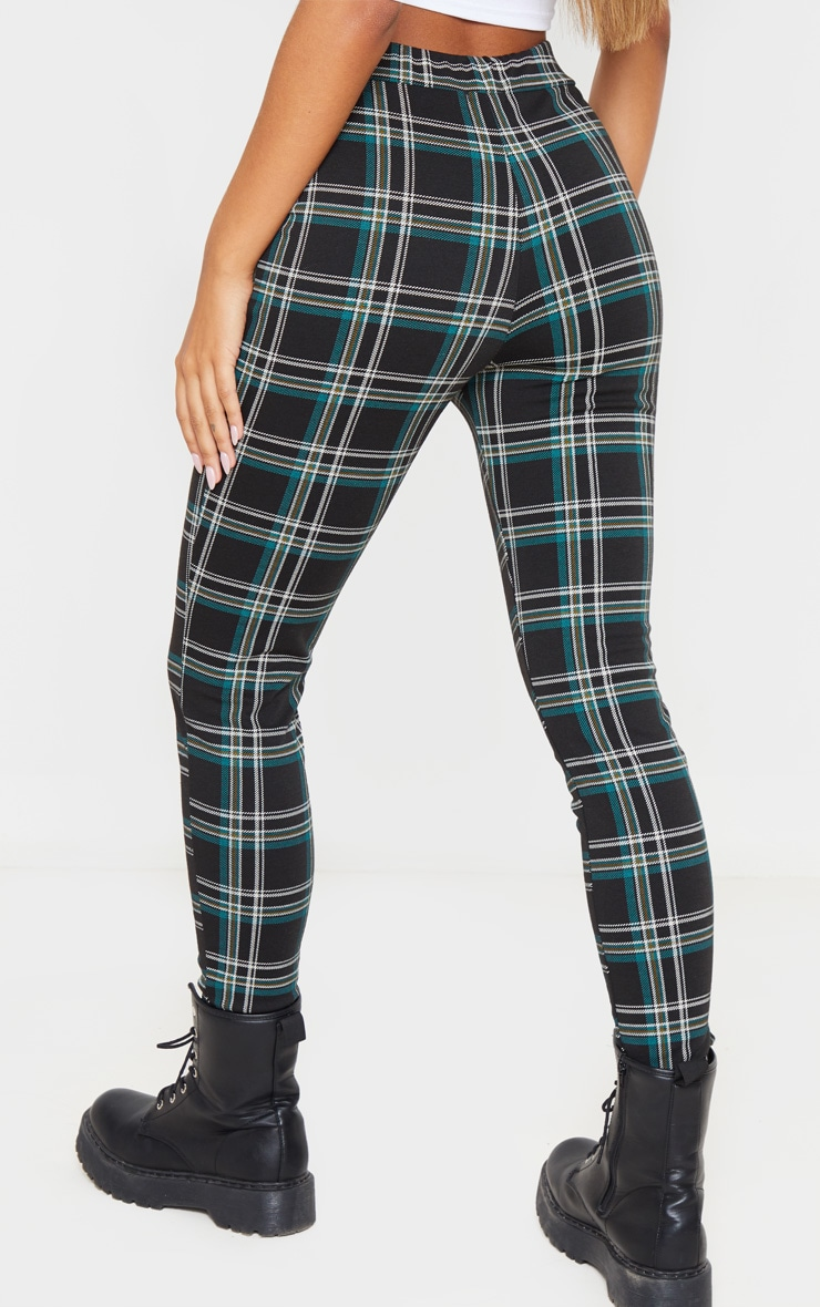 Black Checked Skinny Trousers 4