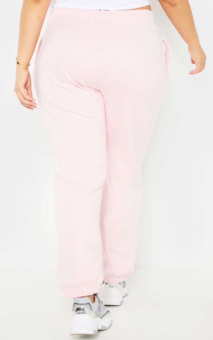 Plus Baby Pink Joggers 4