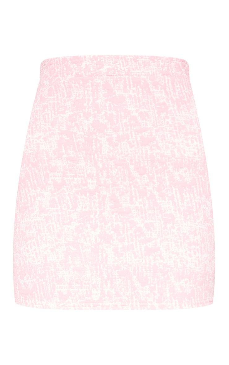 Pastel Pink Boucle Skirt 3