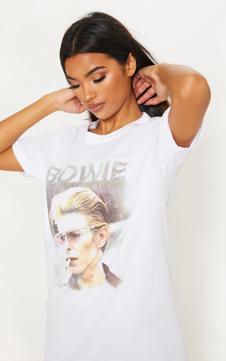 White Bowie T Shirt 4