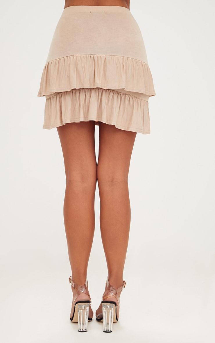 Stone Tiered Frill Jersey Mini Skirt 4