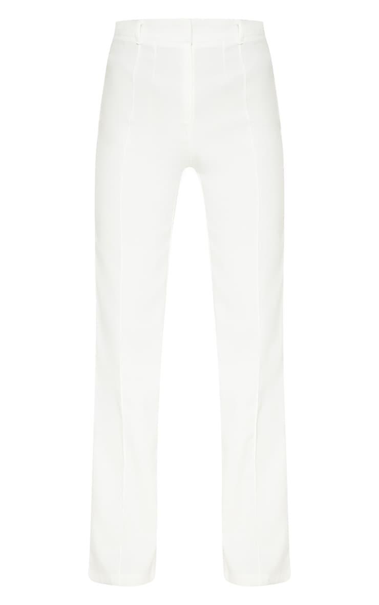 Anala Cream High Waisted Straight Leg Trousers 3