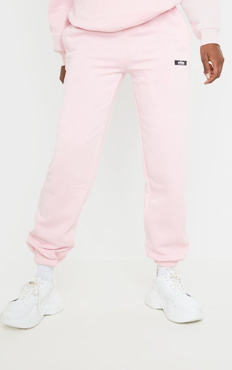 PRETTYLITTLETHING Tall Pink Studio Oversized Joggers 2