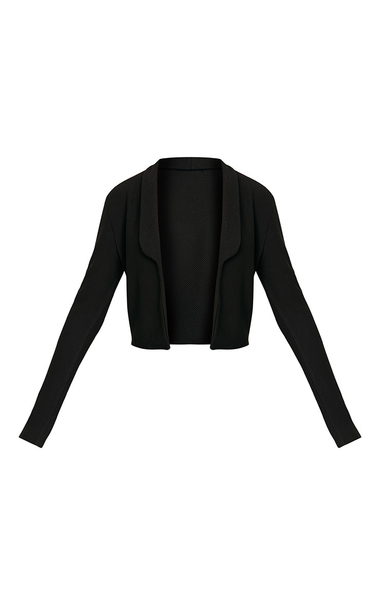 Irie Black Cropped Textured Blazer 3