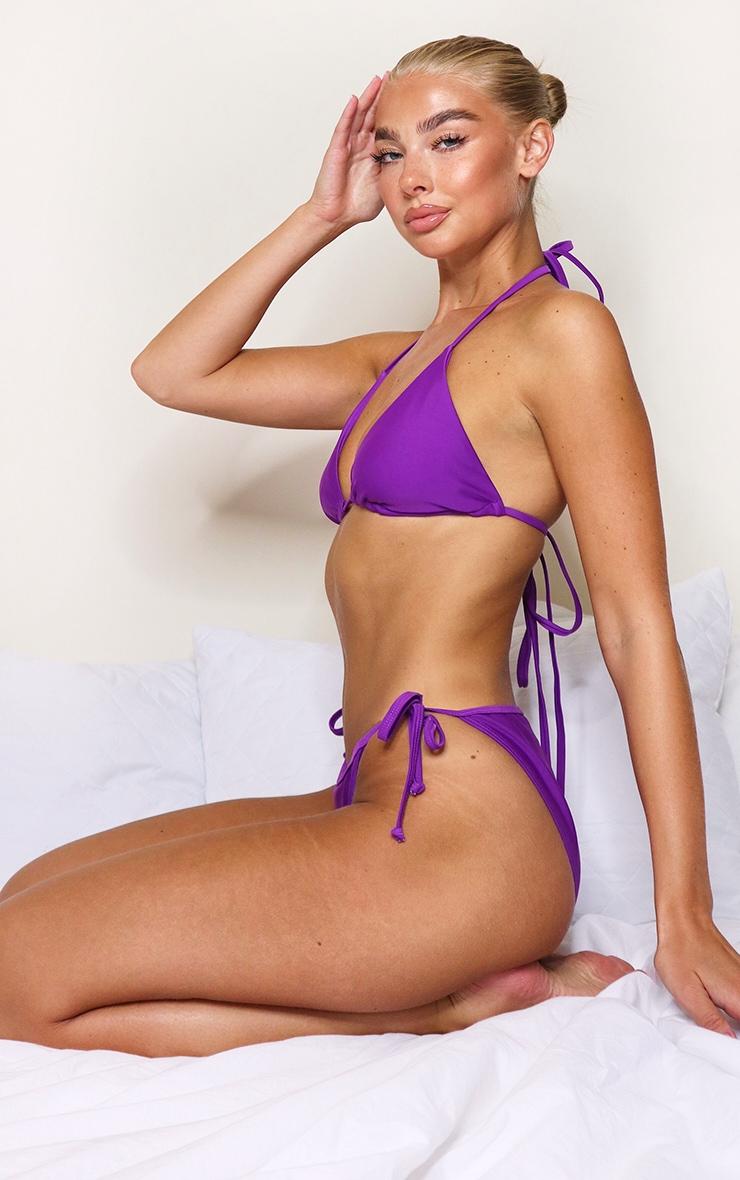 Purple Mix & Match Triangle Bikini Top 2