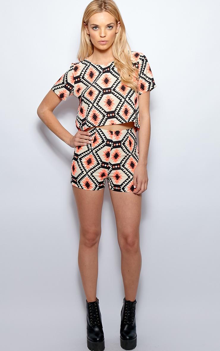 Regina Neon Pink Aztec Print Shorts 5