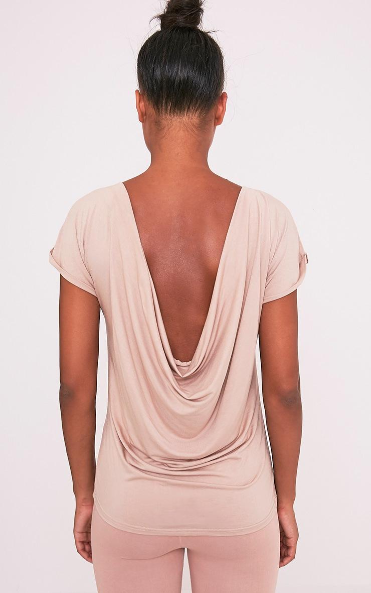 Bea Stone Multi Way Cowl Neck T Shirt 9