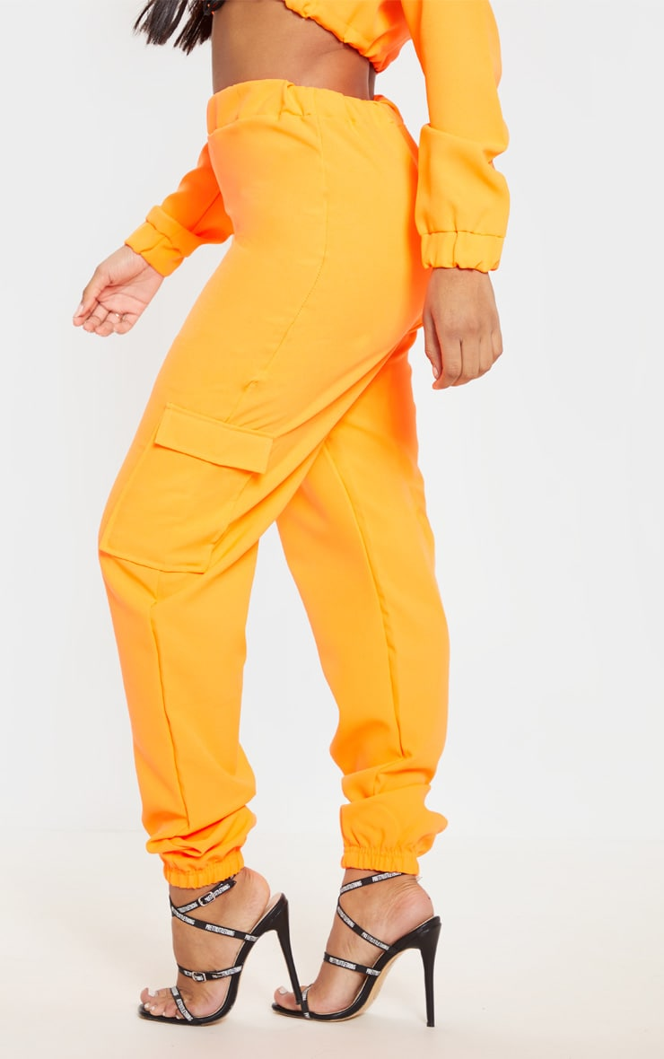 Shape Neon Orange Utility Jogger 4