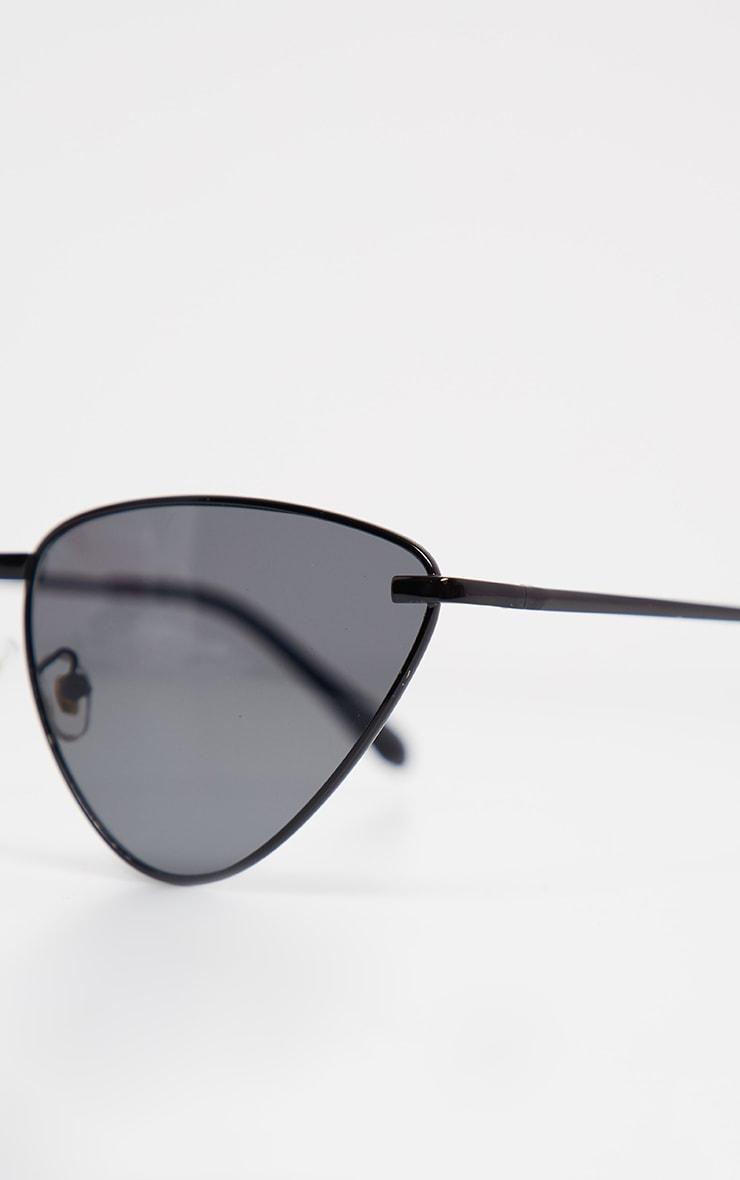 Black Angled Cat Eye Sunglasses 4
