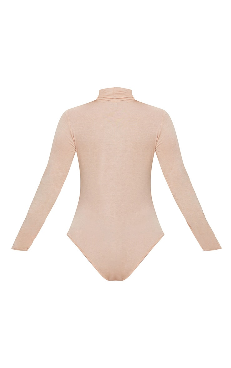 Petite Nude Basic Roll Neck Long Sleeve Bodysuit 4