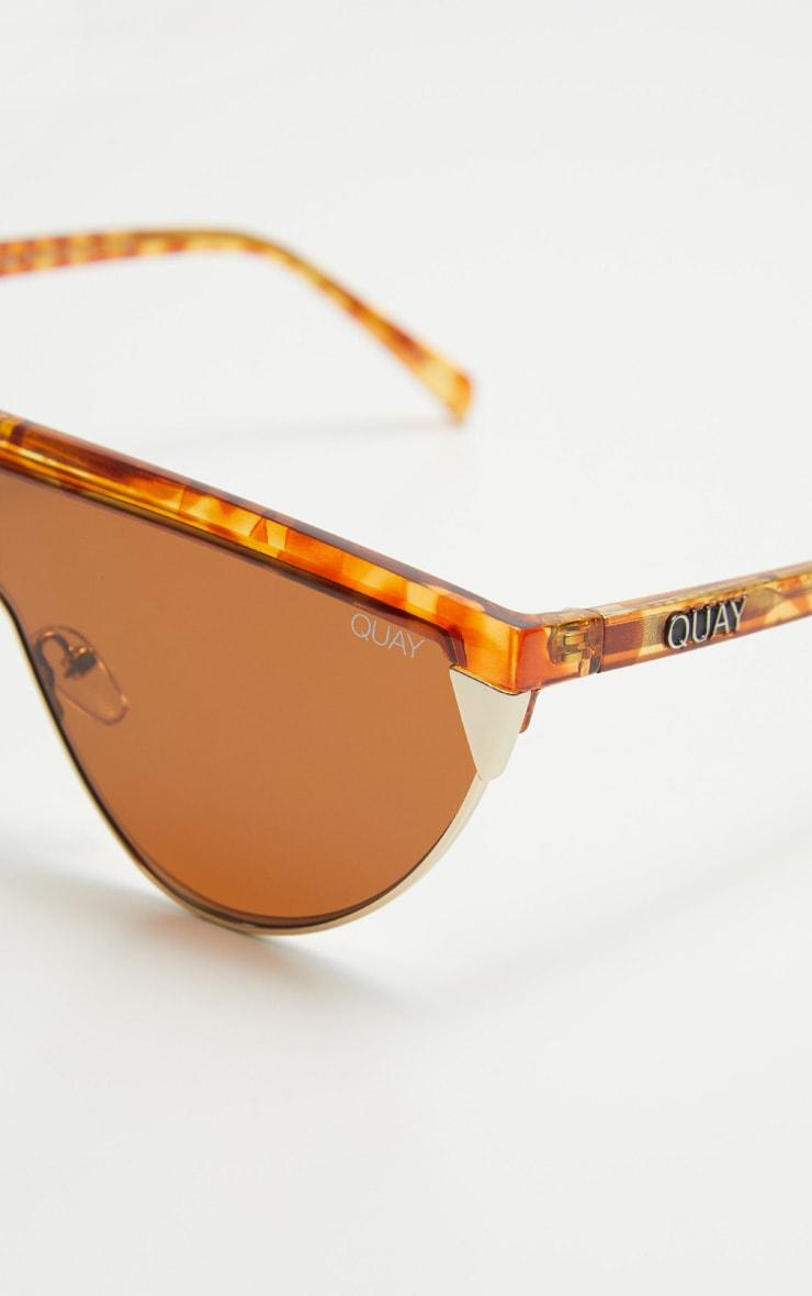 QUAY AUSTRALIA Tortoiseshell X Elle Ferguson Collab Goldie Sunglasses 4