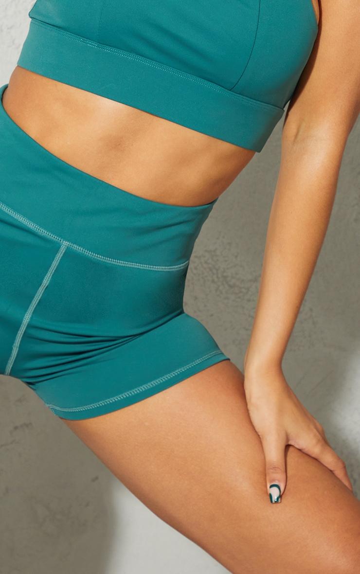 Green Sport Sculpt Luxe Booty Shorts 5