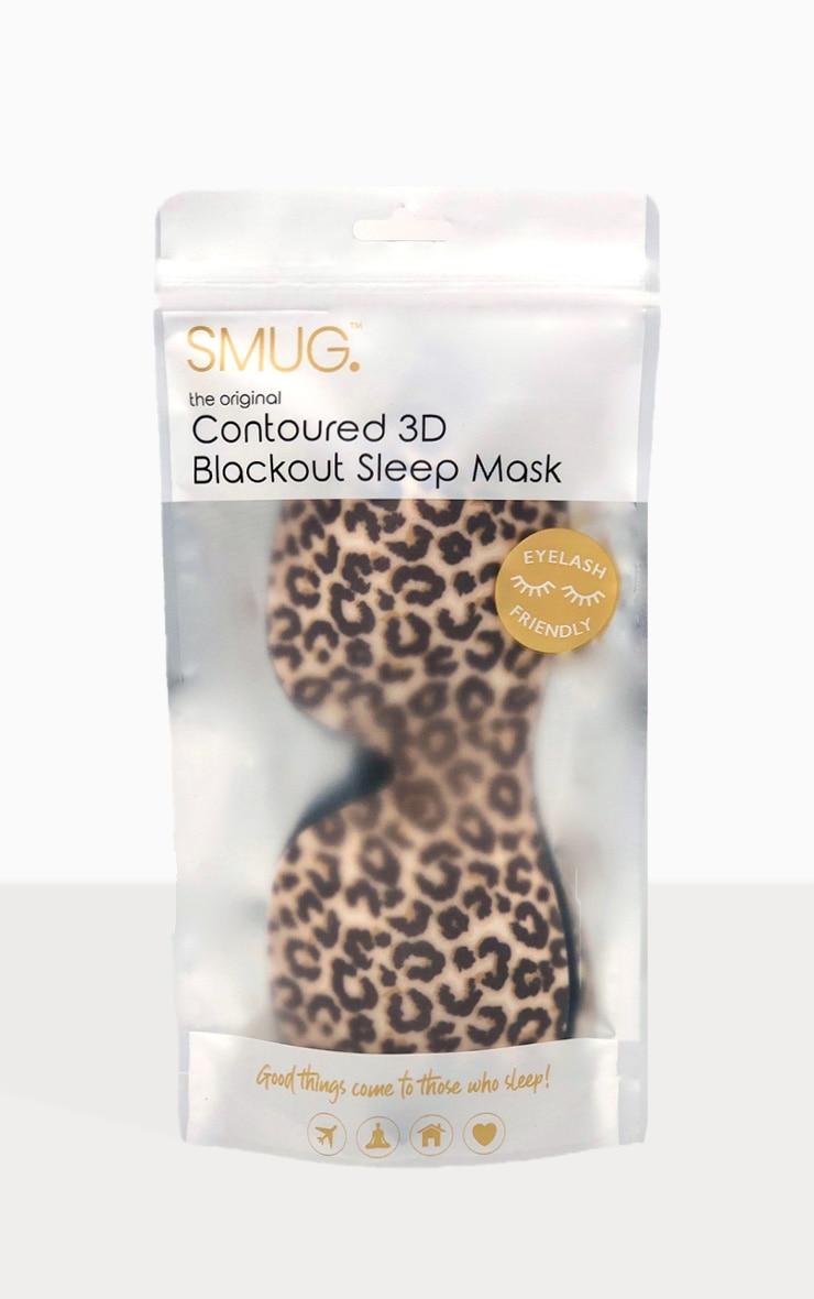 Smug Eyelash Friendly Sleep Mask Animal Print 2