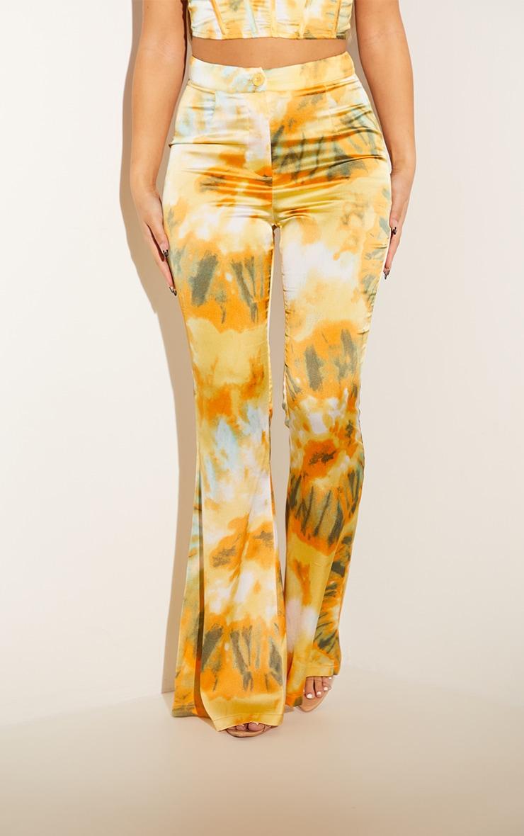 Orange Woven Flared Pants 2