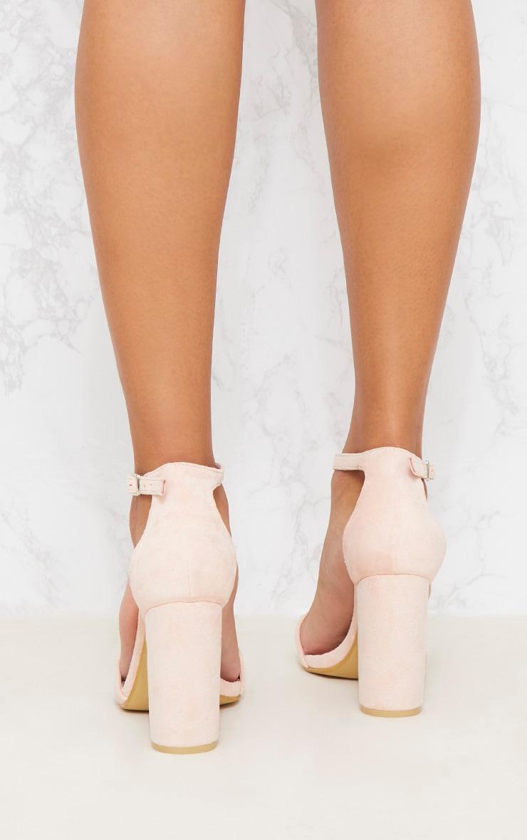 Dusty Pink Block Heel Strappy Sandal 4