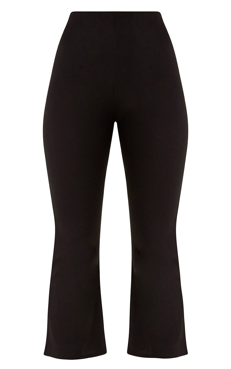 Black Kick Flare Cropped Trousers 3