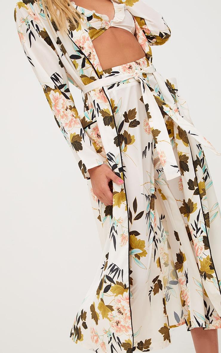 Cream Floral Maxi Kimono 4