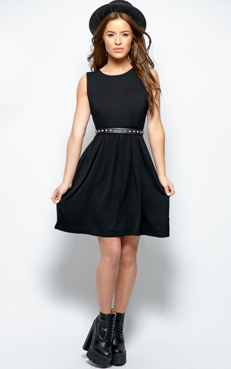 Kirsten Black Sleeveless Smock Dress 3