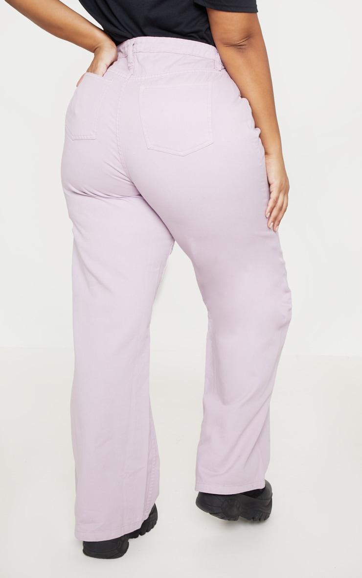Plus Lilac Extreme Wide Leg Jean 4
