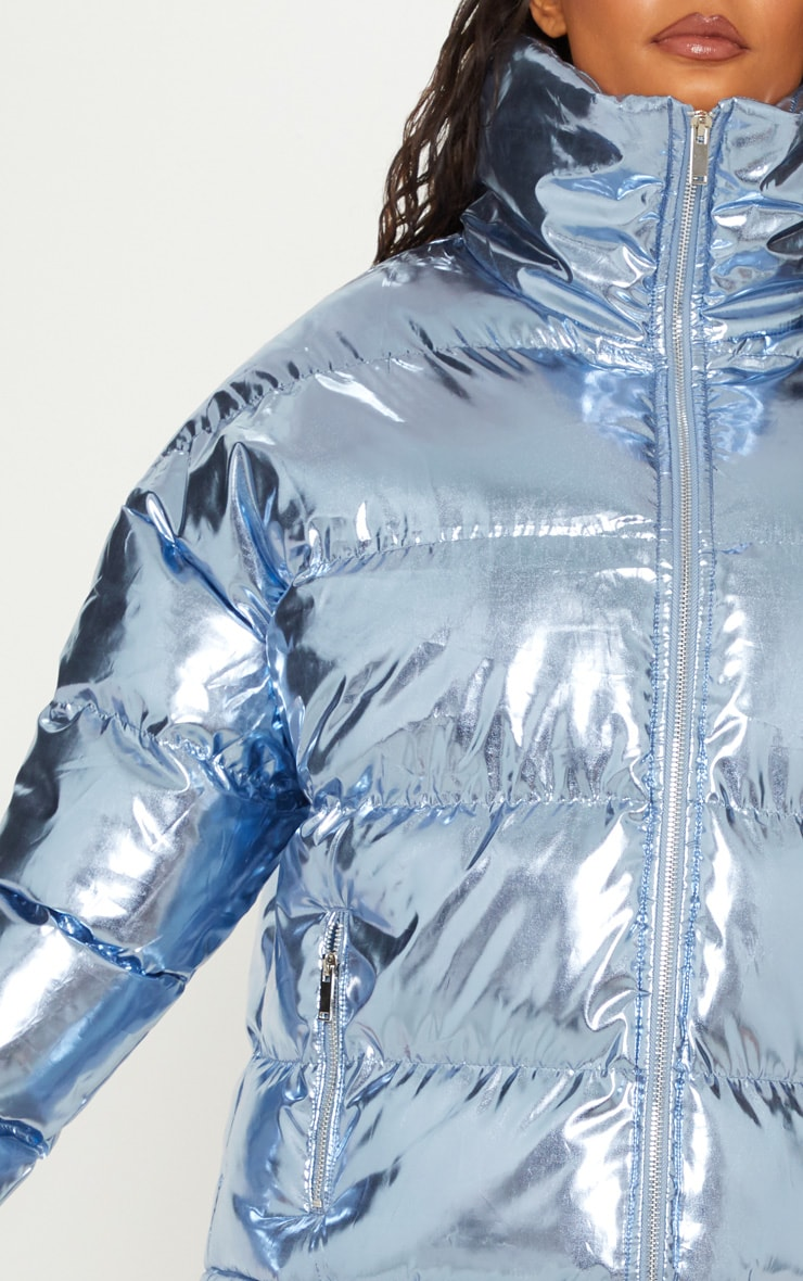 Blue Metallic Puffer  5