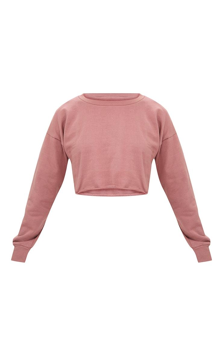 Petite Pink Cropped Sweater 3